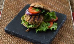 Moroccan lamb and chickpea burgers