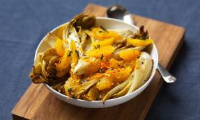 Roasted chicory and orange salad