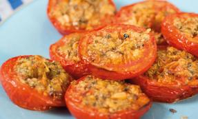 Slow-roasted garlic and herb tomatoes