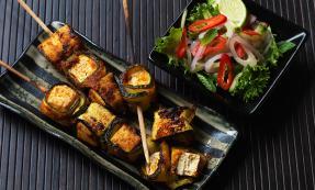Smoky tofu kebabs
