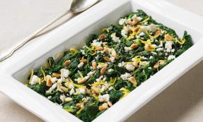 Spinach, lemon and feta salad
