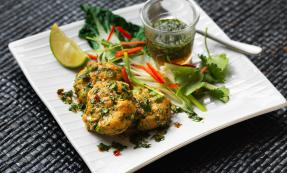 Thai cod cakes with chilli dipping sauce