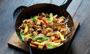 Tofu noodle stir fry
