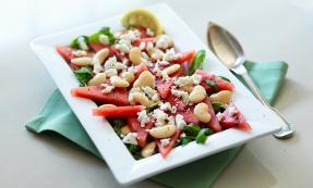 Watermelon, butterbean and feta salad