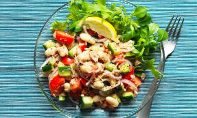 White bean, tuna and lemon salad