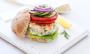 Cod and salmon burger