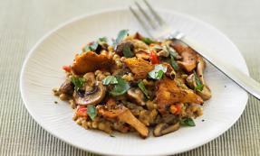 Barley and wild mushroom risotto