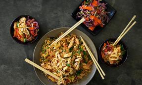 Nasi goreng with pickled vegetables