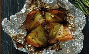 Rosemary baked onions