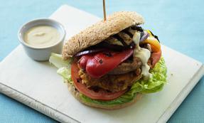 Vegan stack burger