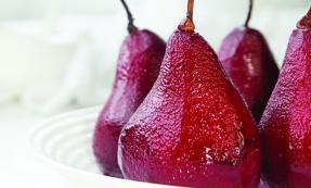 Poached spiced pears