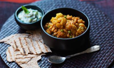 Mixed vegetable and bean curry